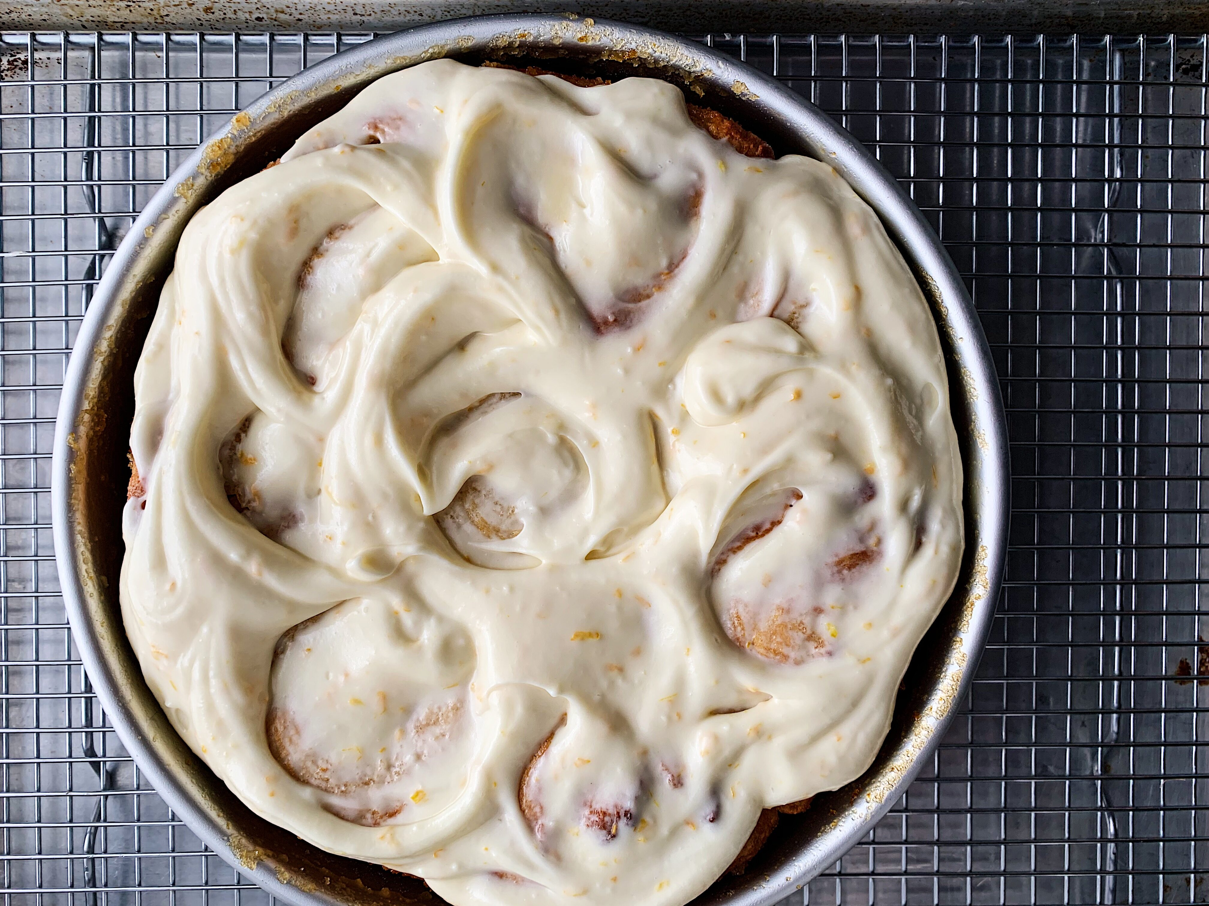 Quick Meyer Lemon Rolls with Zesty Cream Cheese Frosting