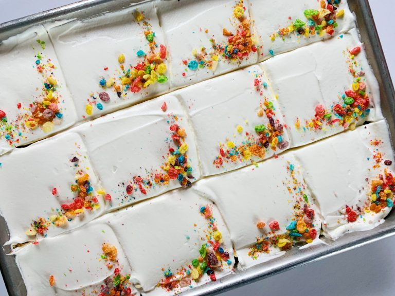 Fruity Pebbles Tres Leches