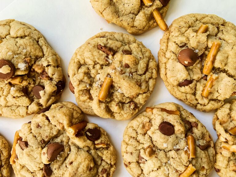 Toffee Pretzel Chocolate Chip Cookies